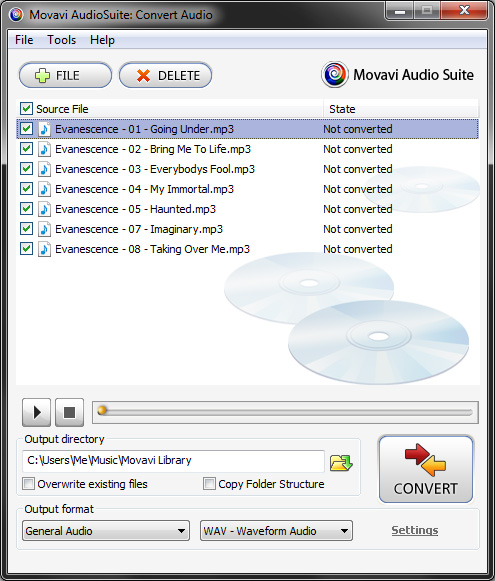 Movavi AudioSuite Screenshot