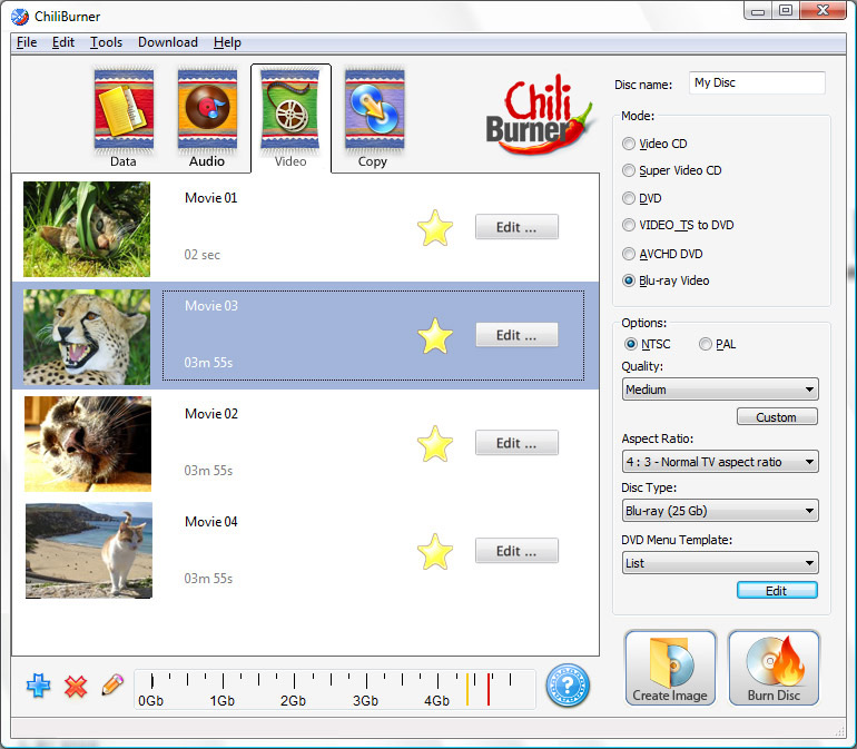 Movavi ChiliBurner Screenshot
