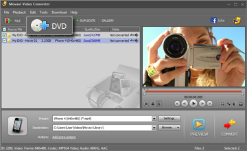 Step 2 - Open Video. DVD to iphone, dvd to iphone converter, convert dvd to iphone.