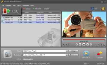 Step 2 - Open Video. MP4 converter, mp4 video converter, avi to mp4, wmv to mp4, 3gp to mp4, video to mp4, mp4 software, mpeg4 converter, convert video to mp4.