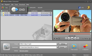 Step 2 - Open Video. DVD to mp4, dvd to mp4 converter, convert dvd to mp4.