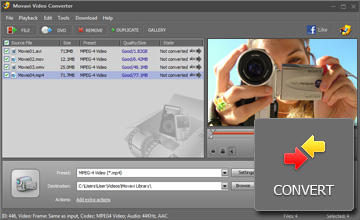 Step 4 - Start Conversion. MP4 converter, mp4 video converter, avi to mp4, wmv to mp4, 3gp to mp4, video to mp4, mp4 software, mpeg4 converter, convert video to mp4.