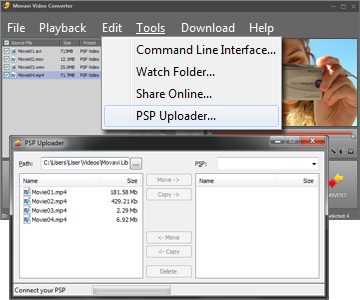 Step 5 - Transfer Video to PSP. PSP converter, psp video converter, video to psp, mp4 to psp, avi to psp, 3gp to psp, wmv to psp.