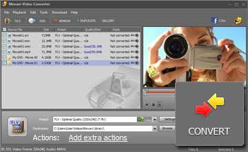 Start converting video to Flash