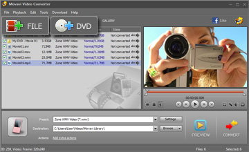 Step 2 - Open Video. Zune converter, zune video converter, video to zune, dvd to zune, avi to zune, mp4 to zune, wmv to zune.
