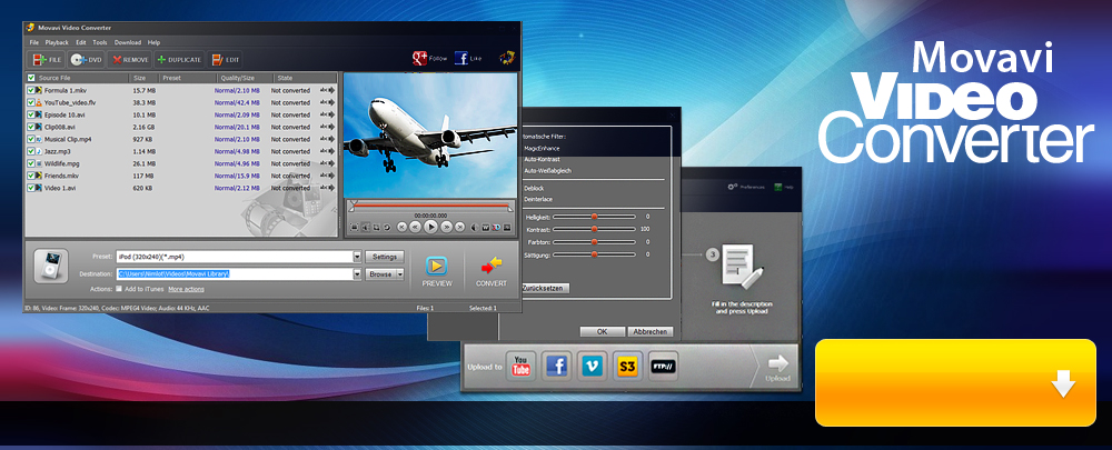 Movavi Video Editor Full Screenshot