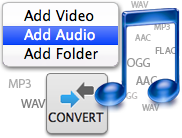 Convert music on Audio Converter Mac