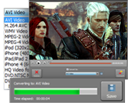 Use game capturing software and save the result in any video format
