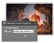 Use gameplay capturer and save the result with Movavi