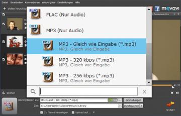 Movavi MP4 zu MP3 Converter