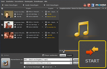 MP4 in MP3 Converter von Movavi
