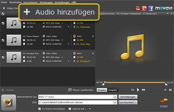 WAV in MP3 umwandeln