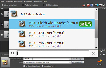 WAV zu MP3 converter von movavi