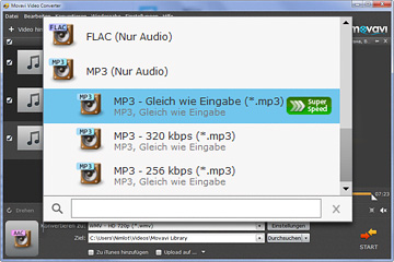 Movavai AAC in MP3 Converter