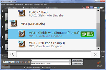 Movavi FLAC in MP3 Converter