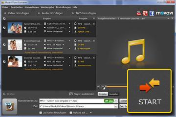 FLV zu MP3 Konverter von Movavi
