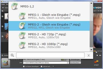 MP4 zu MPEG Konverter