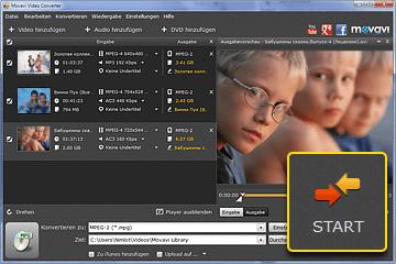 MP4 zu MPEG Videokonverter
