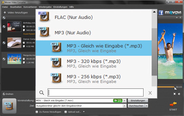 Movavi Video zu MP3 Converter