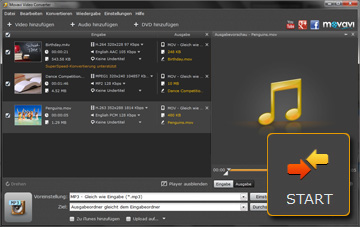 Movavi Video zu MP3 Videoconverter