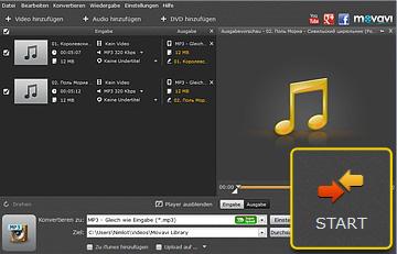 WMA zu MP3 Converter von Movavi