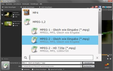 Movavi WMV in MPEG converter