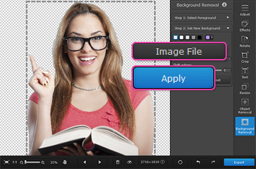 how to change the background of a picture in iphoto