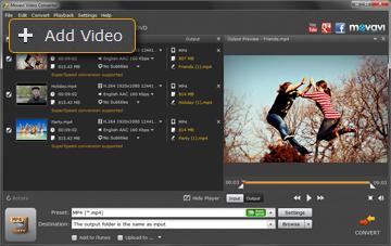 Step 1 - Add a Video File to Movavi Video Compressor