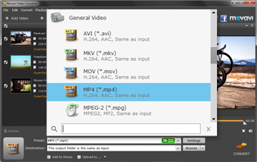 Step 3 - Choose Preset. AVI converter, avi software, avi video converter, convert avi video.