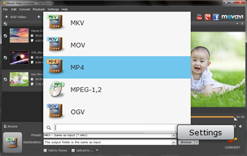 Step 3 - Choose an Output Format before Converting MKV to MP4