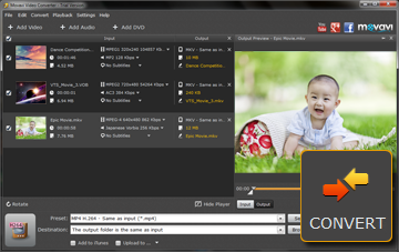 Step 4 - Convert MP4 to MKV