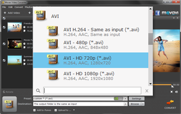 Step 3 - Specify the Output Video Preset