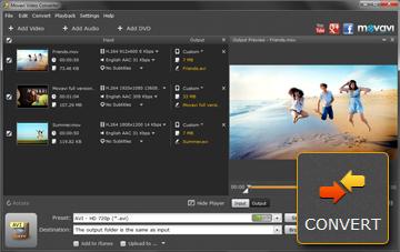 Step 4 - Run the Video Conversion in Movavi Converter