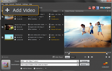 Step 2 - Open Video in Movavi MOV to WMV Converter