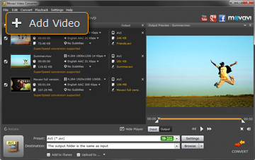 Step 2 - Open Video in Movavi MOV Converter
