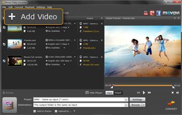 Step 2 - Upload Files to Movavi WMV to MP4 Converter