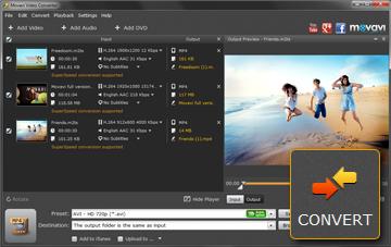 Step 4 - Convert MTS Files in Movavi Video Converter