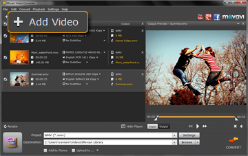 Step 2 - Open Video in Movavi 3GP Converter
