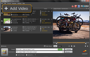 Step 2 - Open Your MP4 Video in Movavi Video Converter