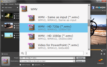 Step 3 - Select the Output for WMV File