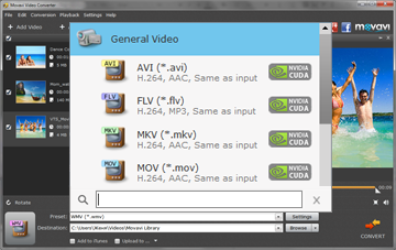 Step 2 - Choose new file format for video