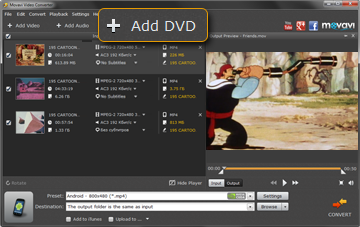 Step 2 - Add VOB Files to Movavi Video Converter