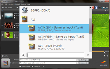 Step 3 - Choose the Preset Before Converting AVI to WMV