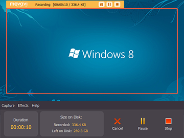 Step 3.1 - Click the REC button to start video capturing on Windows 8