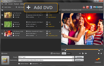 Step 2 - Open the Folder with DVD Files You Want to Rip in Movavi Video Converter