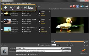 Ouvrir une vidéo dans le convertisseur vidéo pour iPad