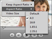 Enjoy your special moments adjusting playback settings with our media player