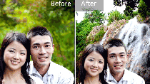 How to change out the background in a photo