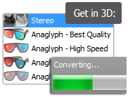 Convert 2d to 3d with Movavi to watch in 3d glasses