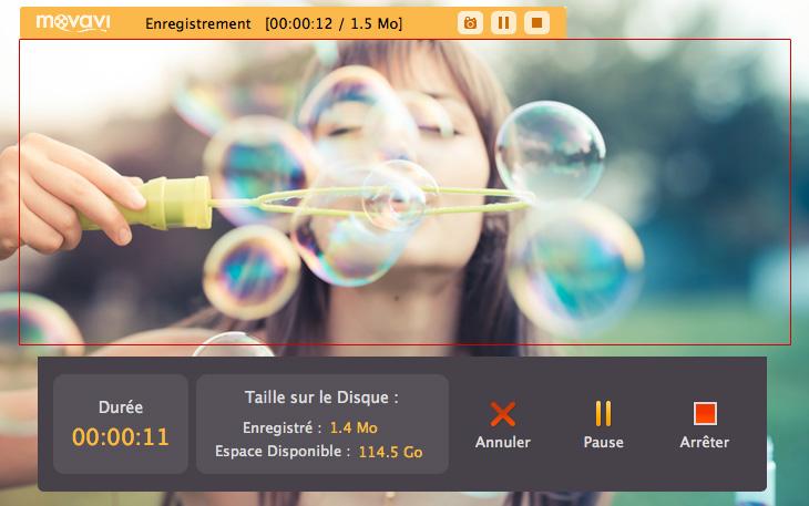 Capture d'écran du logiciel Movavi Screen Capture Studio